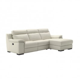Italian Leather Sofa With Chaise - Giunone