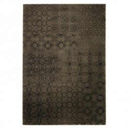 Grey Print Rug - Hamptons