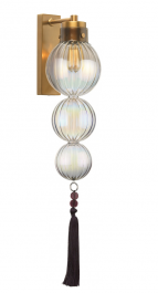 Heathfield Lighting Medina Antique Brass & Lustre Wall Light