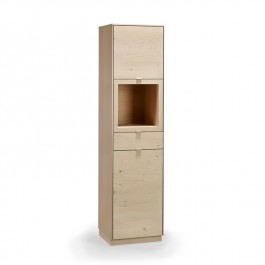 Skovby White Oiled Wild Oak Display Cabinet #914