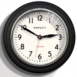 Cookhouse Vintage Black Metal Wall Clock