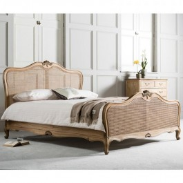 Frank Hudson Chic Cane Weathered Bed
