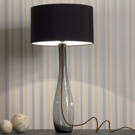 Heathfield Smoke Glass Table Lamp - Bliss