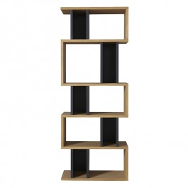 Conran Counter Balance Alcove Bookcase - Oak Charcoal