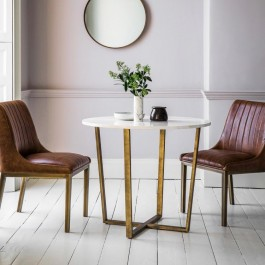 Cleo Round Dining Table Marble Hudson Living