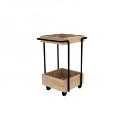 Oak Drinks Trolley Bar Cart