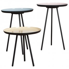 Enamel Set of 3 Side Tables Zuiver