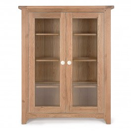 Oak Low Glazed Display Unit