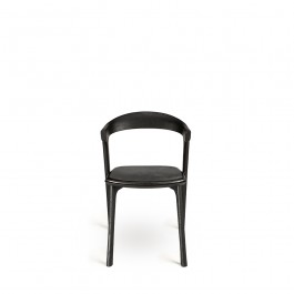 Ethnicraft Bok Dining Chair Black With Black Leather