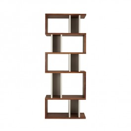Conran Counter Balance Alcove Bookcase Walnut and Pebble