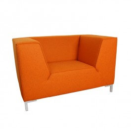 Orange Large Modern Arm Chair Loveseat Chester