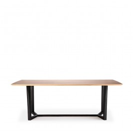 Ethnicraft Facette Oak & Black Dining Table