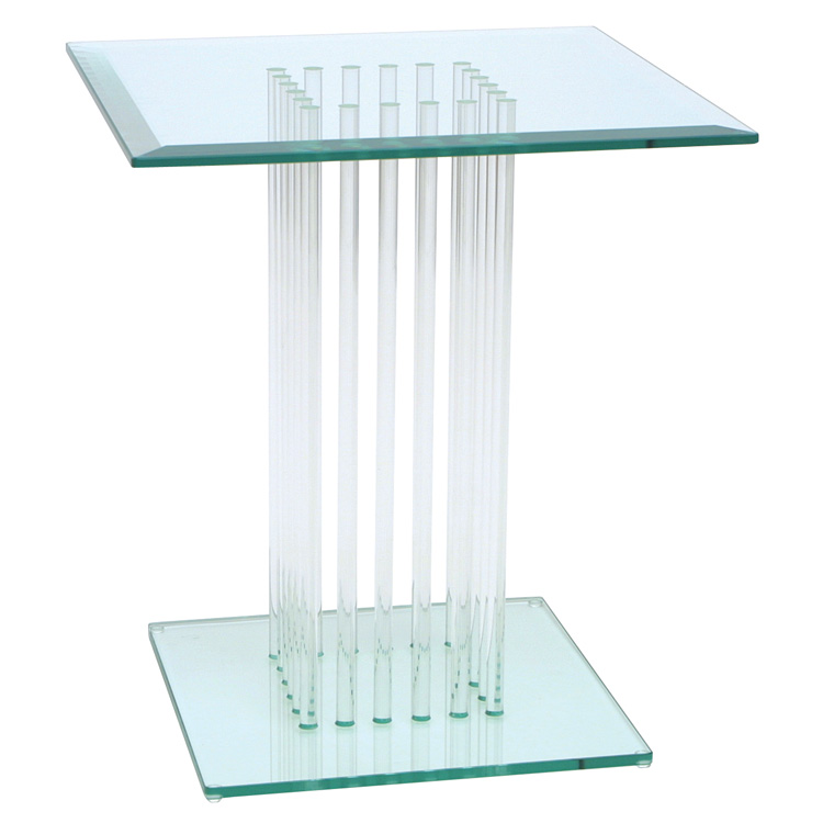 GreenApple Square Glass Side Table Stems
