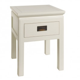 White Chinese Lacquer Side Table