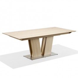 Skovby White Oiled Oak Extending Dining Table SM 39