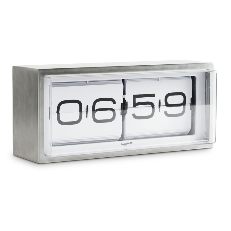 Flip clocks retro clocks stainless steel leff White flip clock