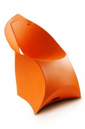 Designer Folding Chair - Flux in Bright Orange