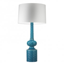 Heathfield Blue Ceramic Table Lamp - Babylon