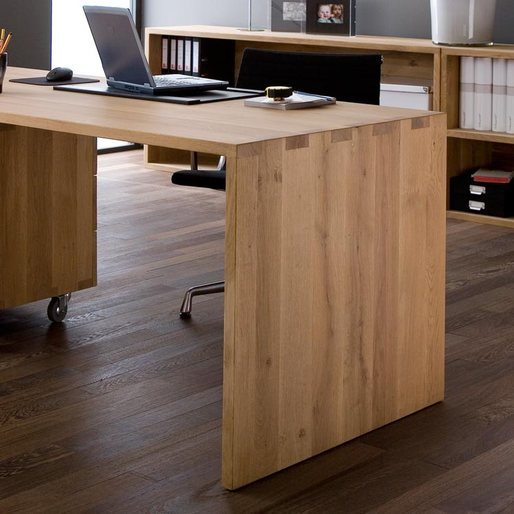 solid oak office desk. Ethnicraft Oak U Desk Office. Image 1 Solid Office L