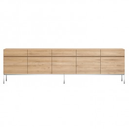 Ethnicraft Oak Sideboard Ligna 5 Door
