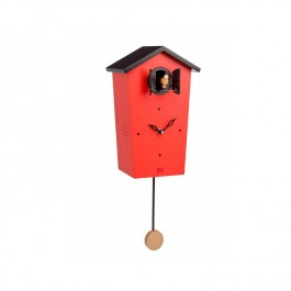Modern Cuckoo Clock Red Wooden