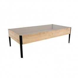 Ethnicraft Oak Window Coffee Table
