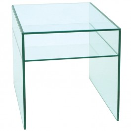 Glass Side Table - Pure