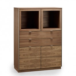 Skovby Walnut Display Cabinet #923