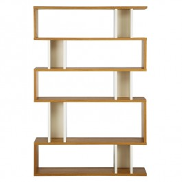 Conran Counter Balance Tall Bookcase - White & Oak