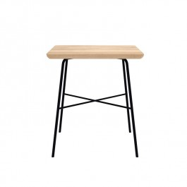 Ethnicraft Oak Disc Side Table Square