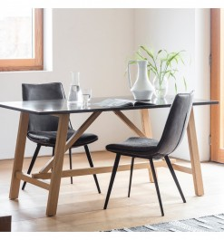 Gallery Brixton Burnished Dining Table