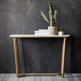 Cleo Console Table Marble Hudson Living
