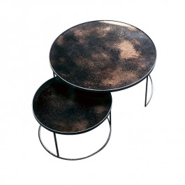 Round Nesting Coffee Table Bronze
