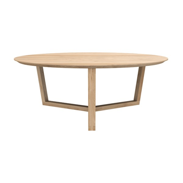 Ethnicraft oak tripod coffee table 4 living for Coffee tables quick delivery