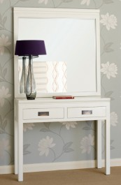 White Lacquer Oriental Console Table.