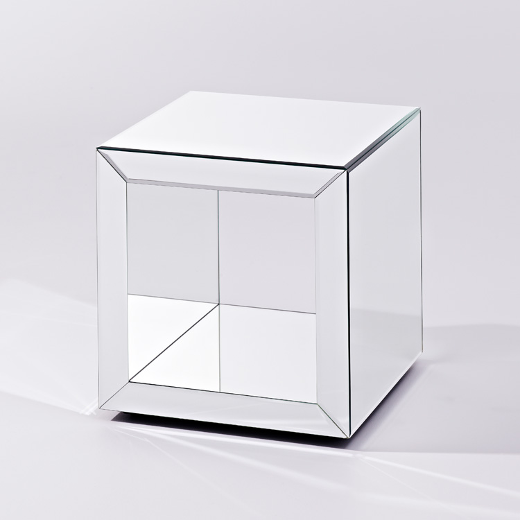 Contemporary glass furniture mirrored furniture cube table box s Mirror glass furniture