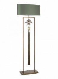 Heathfield  Antique Brass & Gold Floor Lamp - Constance