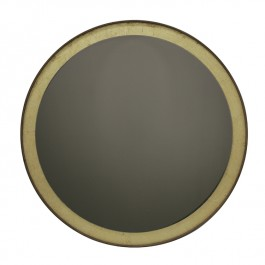 Notre Monde Golden Reflection Mirror Round