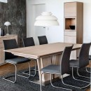 Skovby White Oiled Oak Extending Dining Table #39 (lifestyle)