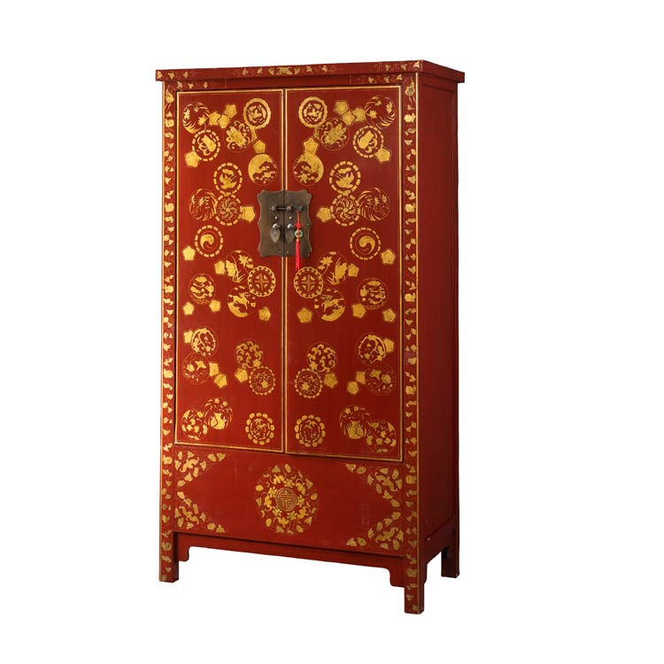 Home · Chinese Lacquer Cabinets; Oriental Wedding Cabinet. Image 1