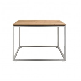 Ethnicraft Oak And Steel Side Table Thin