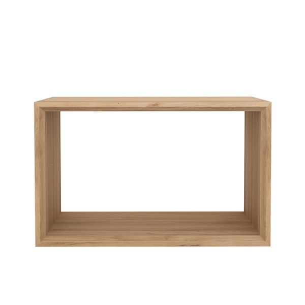 Modern cube coffee table ethnicraft oak furniture 4 living for Coffee tables quick delivery