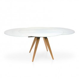 Peressini Casa Myles Matt White Extending Dining Table
