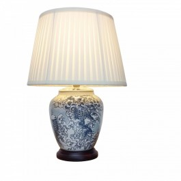 Pair of Oriental Table Lamps -Japanese Wave