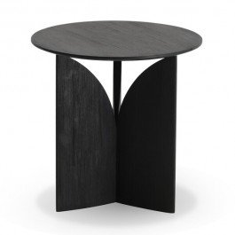 Ethnicraft Fin Black Teak Side Table