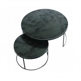 Round Nesting Coffee Table Charcoal