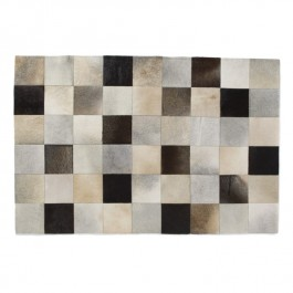 Leather Hide Rug - Spice Squares