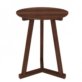 Ethnicraft Modern Walnut Tripod Side Table