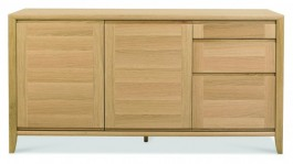 Bergen Washed Oak Wide Sideboard