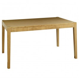 Eco bamboo extending dining table natural finish